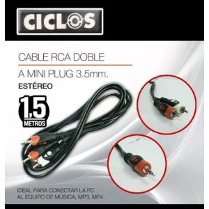 CABLE 2RCA X 1 PLUG 3.5MM 1.4315