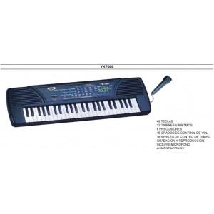 ORGANO MUSICAL YK-7000 49 TECLAS C/MICROFONO